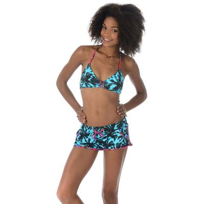 Pantalón corto de playa Run Miami azul turquesa
