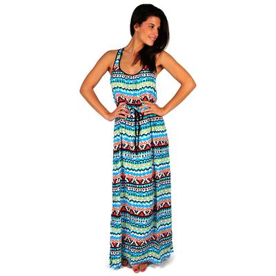 Maxi vestido de playa multicolor Kasbah