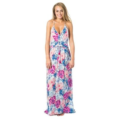 Vestido de playa rosado Pivoine Bloom