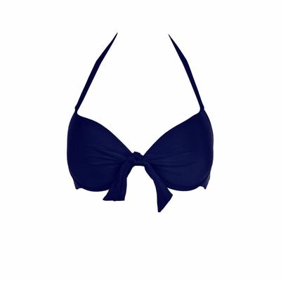 Mi Push-up Bikini azul marino (top)
