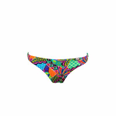 Biquini tanga multicolor reversible Habanera (braguita)