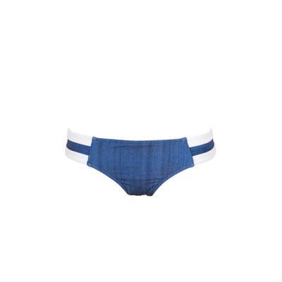 Braguita clásica de biquini Block Party azul jean