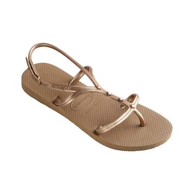 Sandalias de playa rosa oro Allure