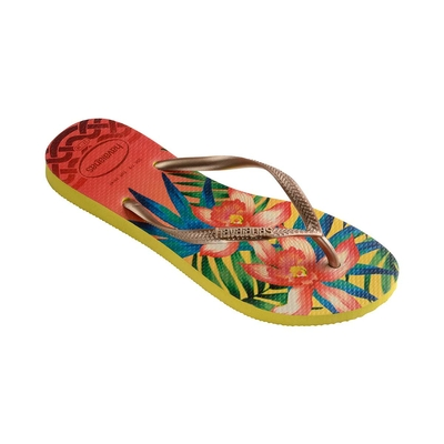 Chanclas amarillas Slim Tropical
