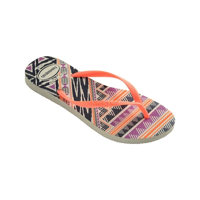 Chanclas anaranjadas Slim Tribal