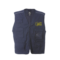 Gilet multi-poches doublure filet - New Safari