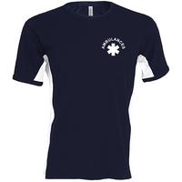 Tee shirt bicolore en coton - Manches courtes - K340
