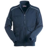 Veste zippée - Grandes poches - Coton/polyester - Work