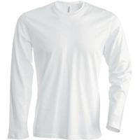 Tee shirt uni en coton - Manches longues - Homme - K359