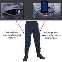 Pantalon d'intervention Mat Bleu