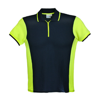 Polo Marine / Jaune Fluo - Manches Courtes