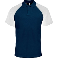Polo Bicolore - Homme - Marine/Blanc