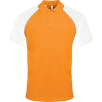 Polo Bicolore - Homme - Orange/Blanc
