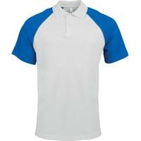 Polo Bicolore - Homme - Bleu Royal/Blanc