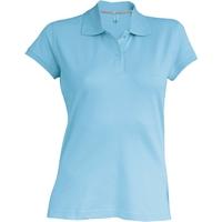 Polo - Manches courtes - Femme - Bleu Ciel
