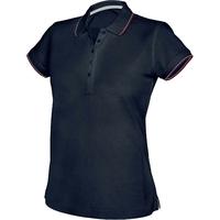 Polo maille piqué - Femme - Marine/Blanc/Rouge