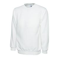 Sweat-shirt - Col rond - Blanc