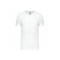 Tee shirt uni en coton - Col V - Homme - K357