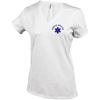 Tee shirt uni en coton - Col V - Femme - K381