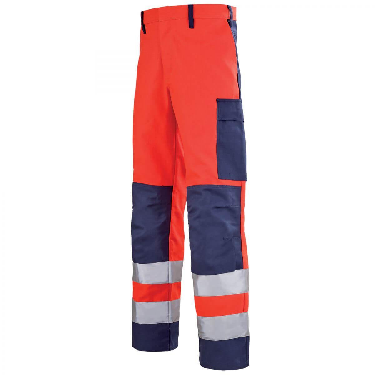 pantalon de travail homme rouge hivi et bleu marine mars. Black Bedroom Furniture Sets. Home Design Ideas