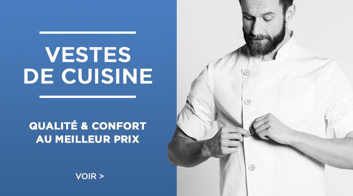 Vêtements cuisinier et vestes de cuisine