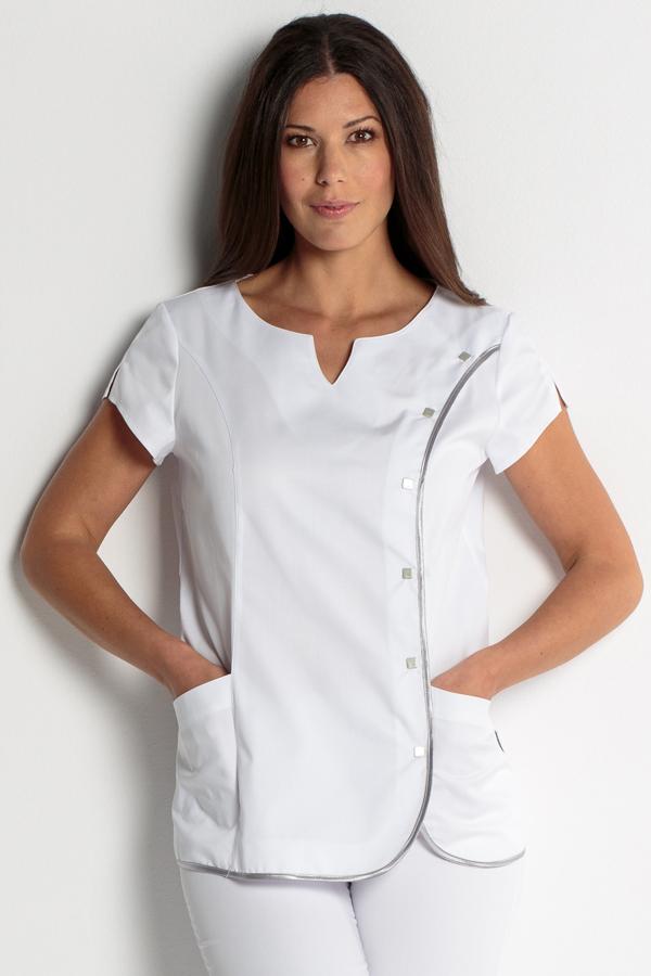 Veste blanche sans manche femme