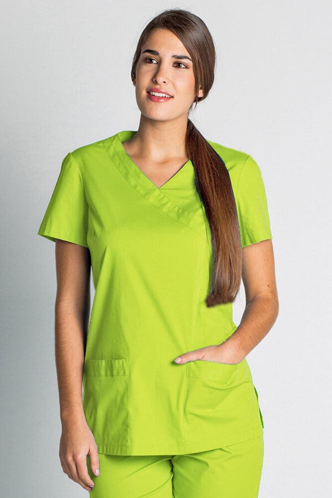 blouse tunique m dicale vert anis stretch tunique m dicale femme. Black Bedroom Furniture Sets. Home Design Ideas