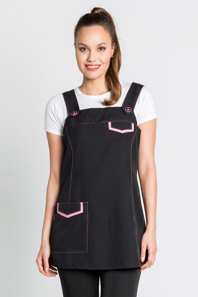 tablier jumper dress noir et rose tabliers d 39 estheticienne. Black Bedroom Furniture Sets. Home Design Ideas