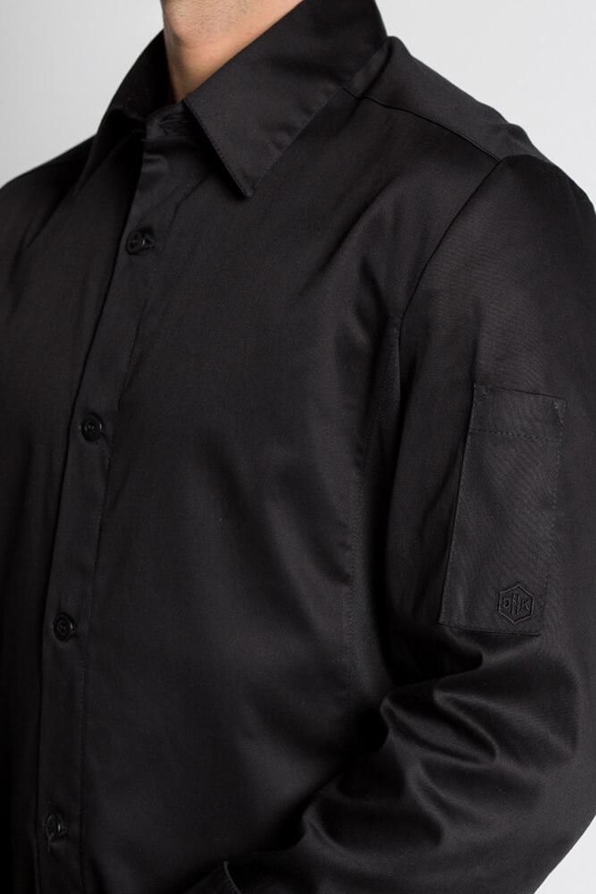 Mylookpro Cuisine Stretch Chemise Chef Look De Confort Veste Noire EwT8axq