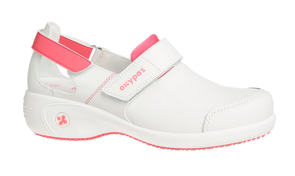 Blanche Et Ultraconfortable De Chaussures Rose Salma Travail 8w0OXNPnk