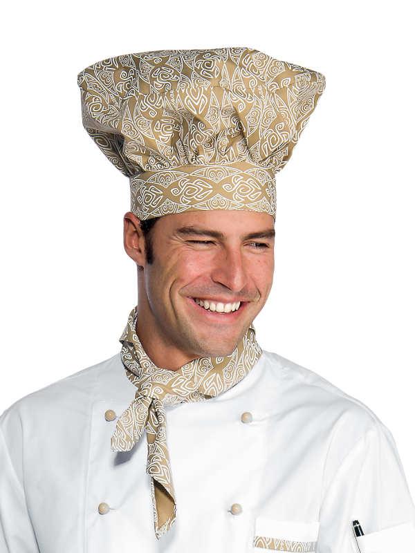 Toque de chef cuisinier blanc biscuit coiffes de cuisine for Cuisinier 71