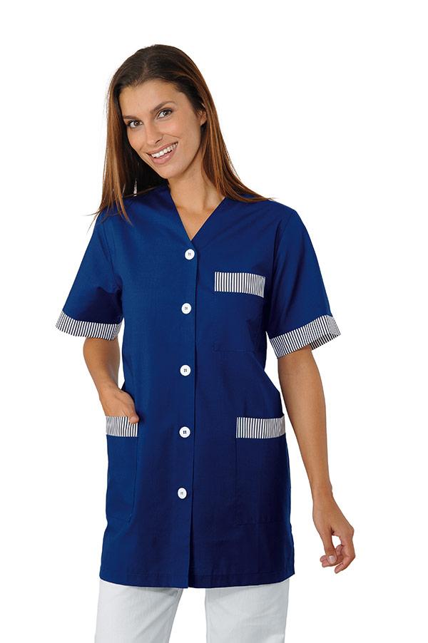 blouse de travail dacca bleu hotellerie blouse femme de chambre. Black Bedroom Furniture Sets. Home Design Ideas