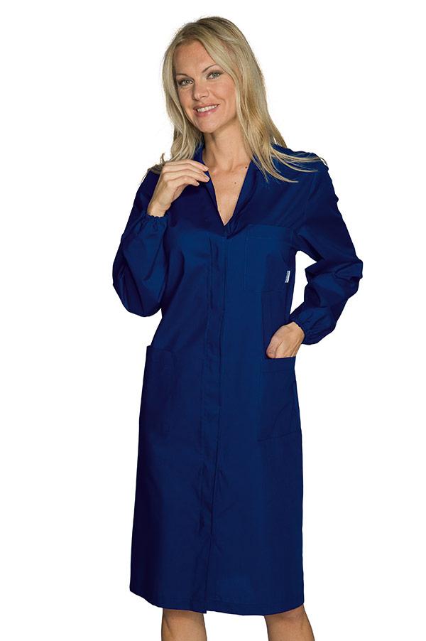 blouse laboratoire femme pr vention des risques bleu fonc. Black Bedroom Furniture Sets. Home Design Ideas