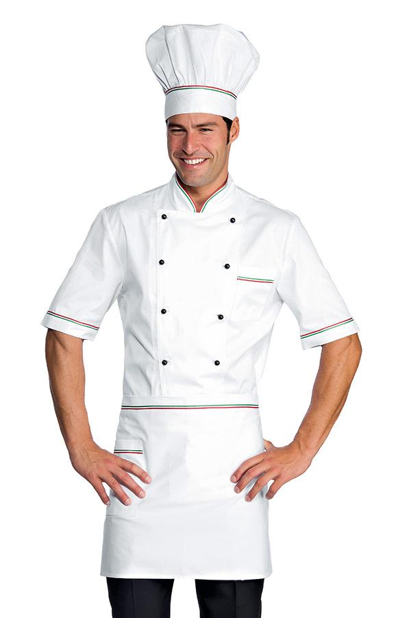 Veste Chef Cuisinier Alicante Blanc Tricolore 100 Coton