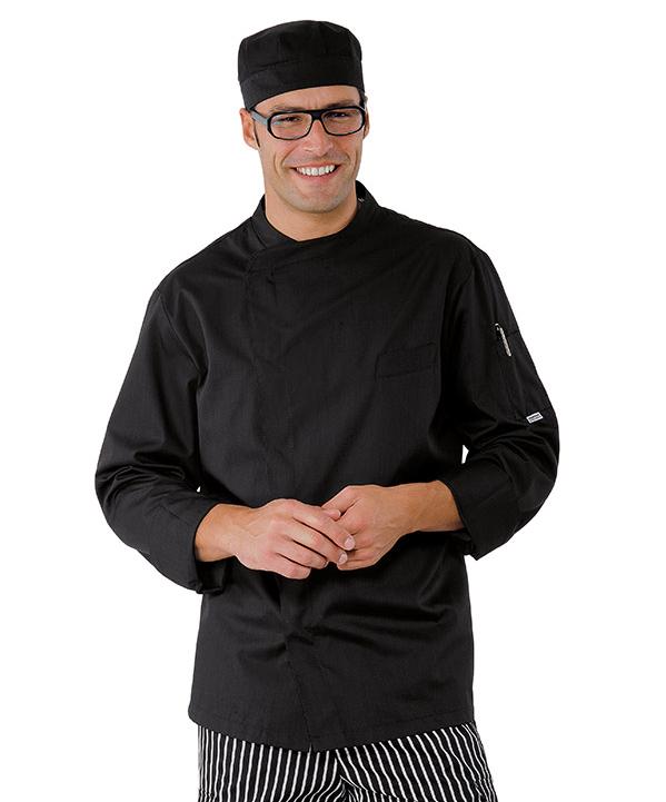 Veste chef cuisinier pretoria extra light noir for Cuisinier extra