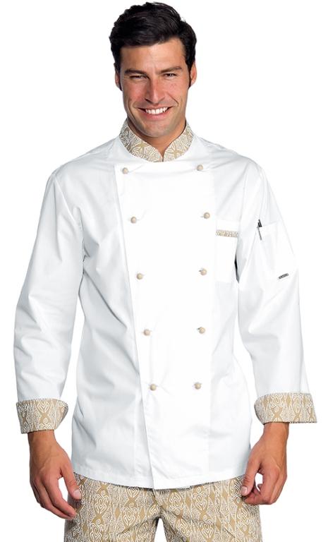 Veste chef cuisinier extralight blanc biscuit vestes de for Cuisinier 78