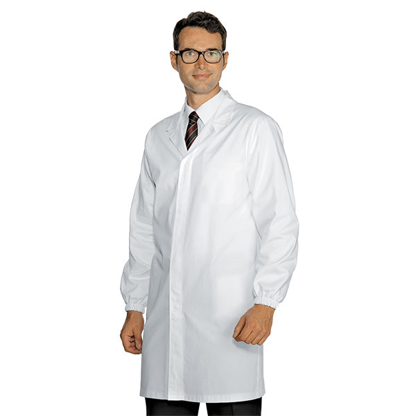 blouse blanche homme 3 poches interne 100 coton. Black Bedroom Furniture Sets. Home Design Ideas