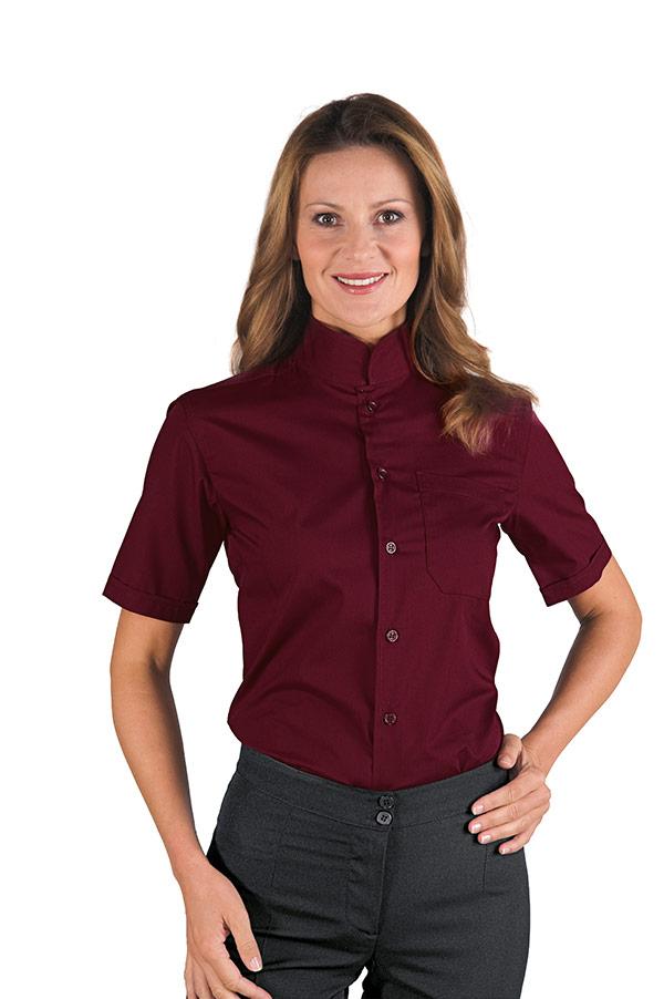 chemise unisexe dublino manches courtes bordeaux. Black Bedroom Furniture Sets. Home Design Ideas