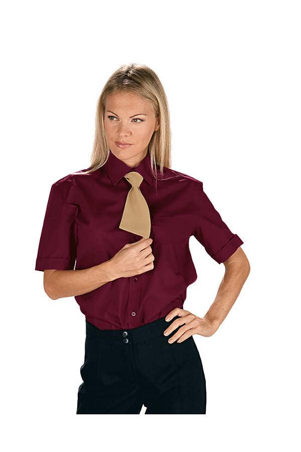 chemise unisexe manches courtes bordeaux. Black Bedroom Furniture Sets. Home Design Ideas