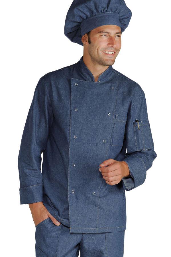 veste chef cuisinier boutons pression jeans vestes de cuisine veste de cuisine couleur. Black Bedroom Furniture Sets. Home Design Ideas
