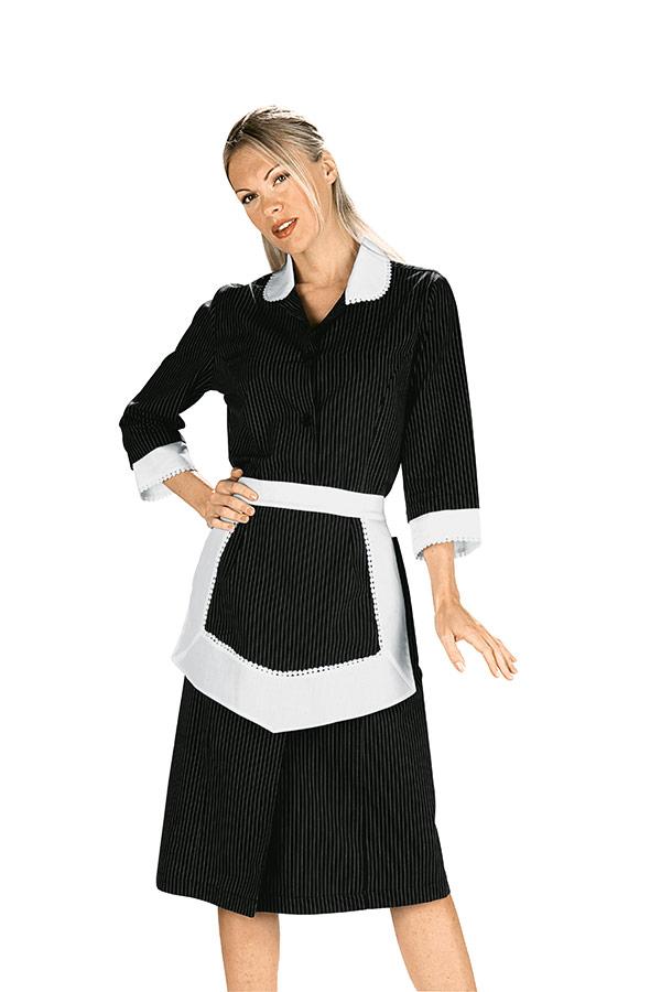 blouse femme de chambre et tablier noir et blanc 100 coton. Black Bedroom Furniture Sets. Home Design Ideas