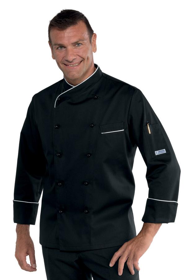 veste de cuisine panama coupe slim noire et blanche vestes de cuisine veste de cuisine couleur. Black Bedroom Furniture Sets. Home Design Ideas