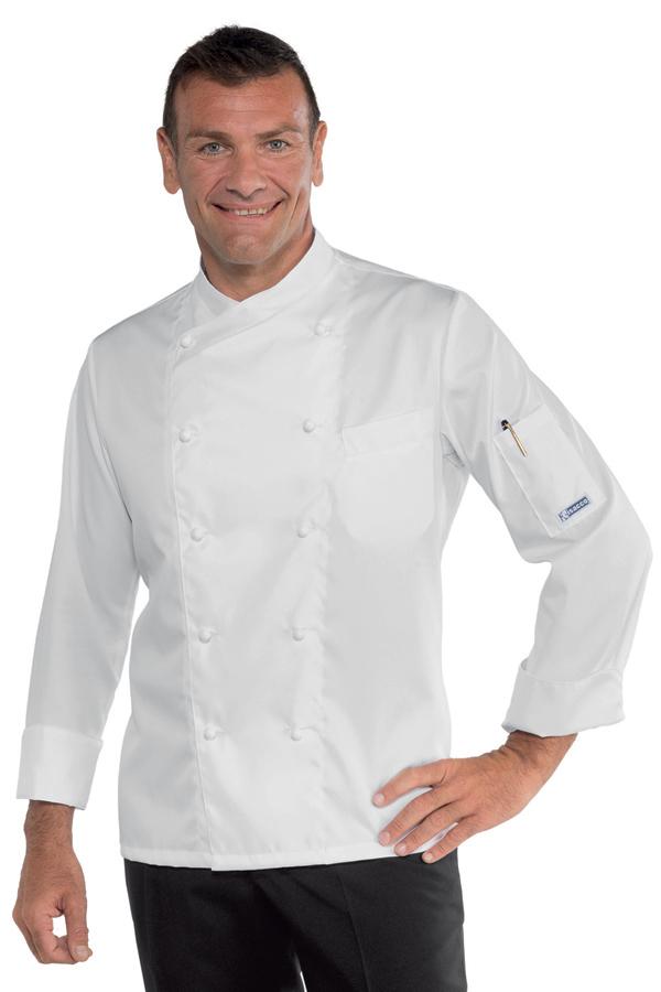 Veste de cuisine blanche sans repassage vestes de for Tenue de cuisine