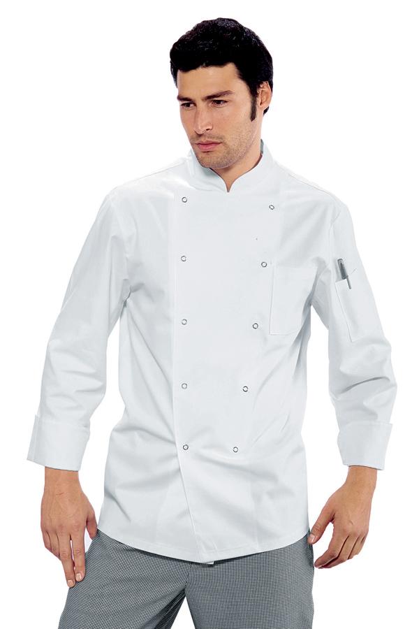 Veste de cuisine pas cher a boutons pression for Veste cuisine mof