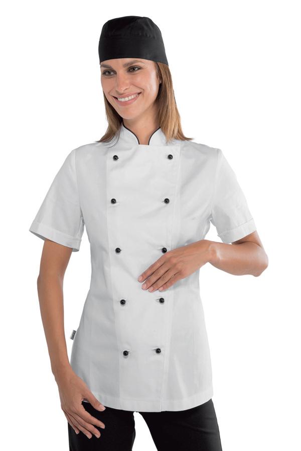 veste cuisine lady grandchef 100 coton v tements de cuisine. Black Bedroom Furniture Sets. Home Design Ideas
