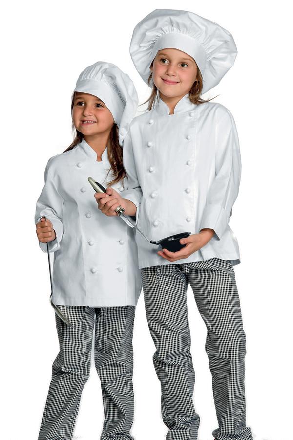 Veste de cuisine blanche enfant babychef 100 coton for Cuisine enfant blanche