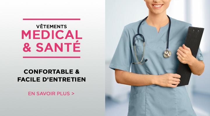 Vetements de travail et uniforme medical