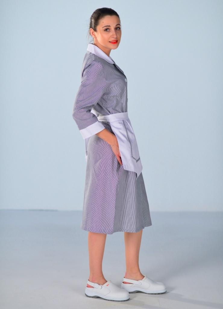 blouse femme de chambre grise carlton uniformes d 39 hotellerie. Black Bedroom Furniture Sets. Home Design Ideas
