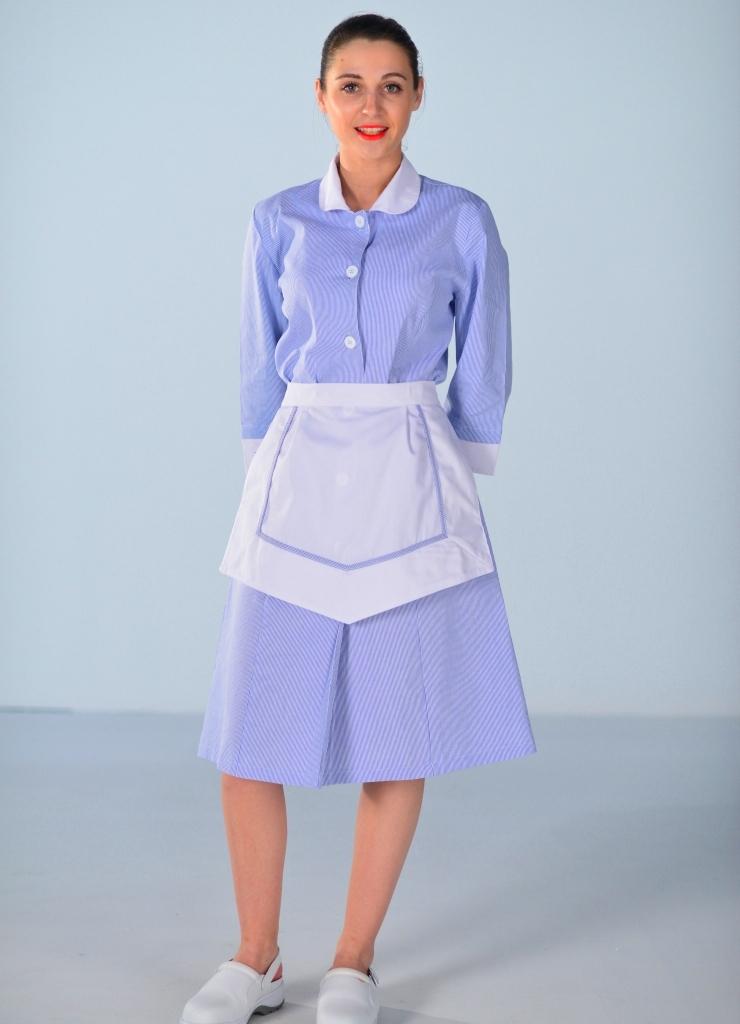 blouse femme de chambre bleu ciel carlton uniformes d 39 hotellerie. Black Bedroom Furniture Sets. Home Design Ideas