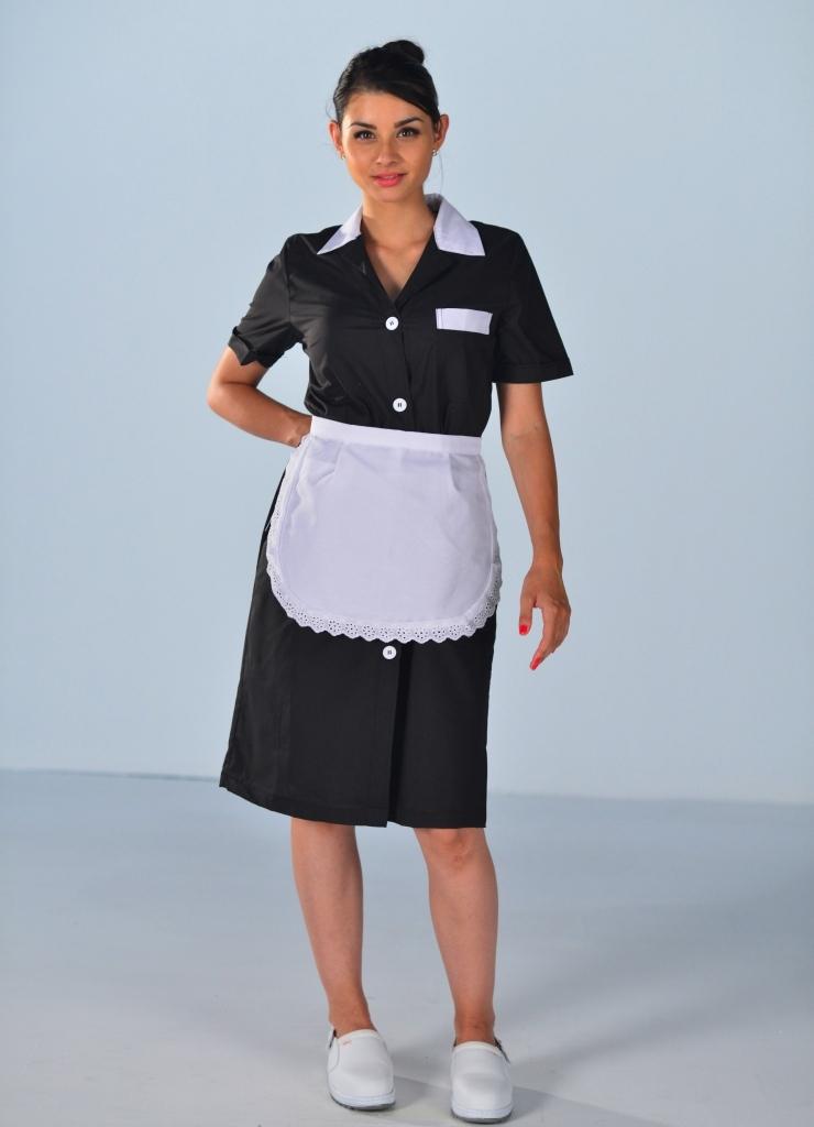 Blouse de travail noire pour femme blouses femme de chambre - Femmes de chambre synonyme ...